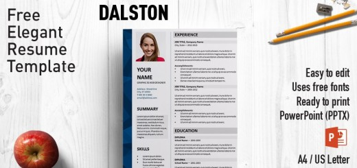 template cv pptx download free
