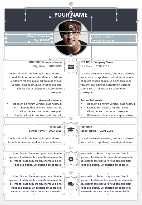 microsoft powerpoint resume template