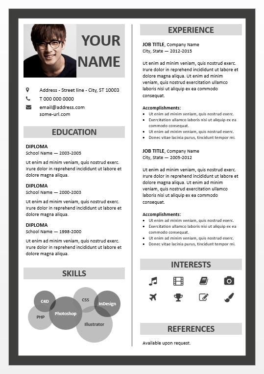 resume font size canada