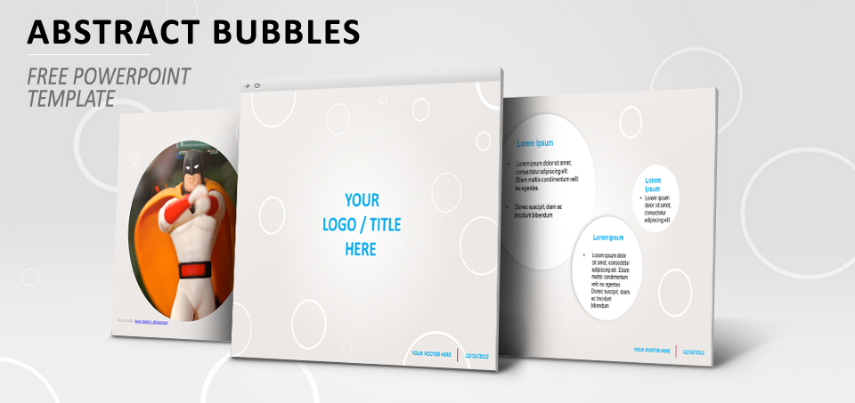 Abstract Bubbles Template for PowerPoint - bubbles power point