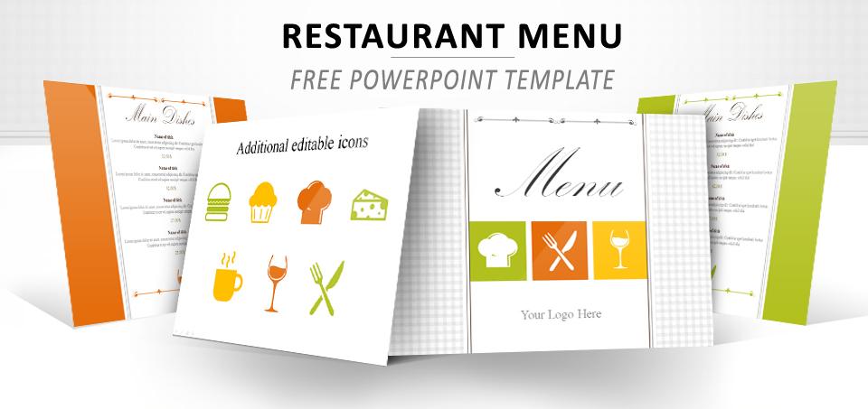 Plantilla Menú de Restaurante PowerPoint