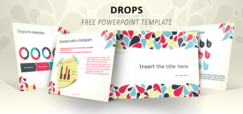Drops \u2013 Full Template for PowerPoint
