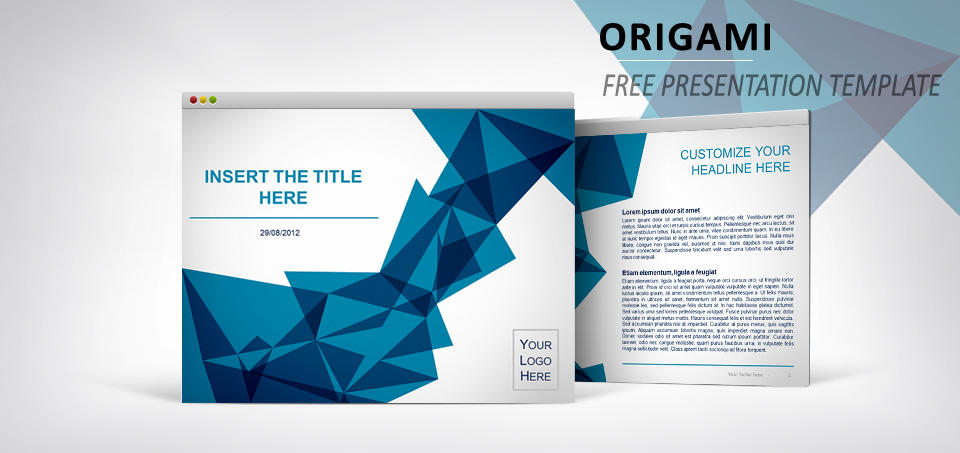 Origami \u2013 Free Template for PowerPoint and Impress