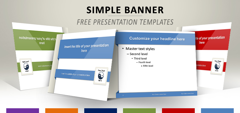Simple Banner \u2013 Free Template for PowerPoint and Impress