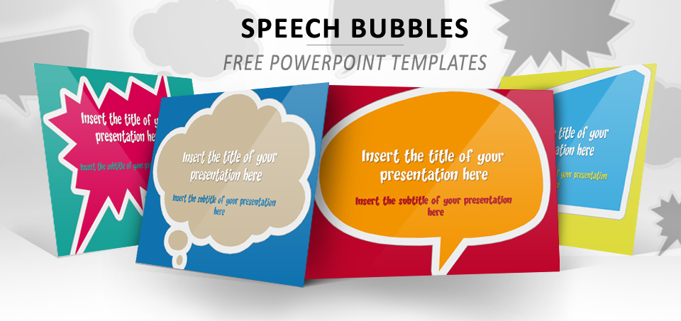 Speech Bubbles \u2013 Free Template for PowerPoint and Impress - bubbles power point