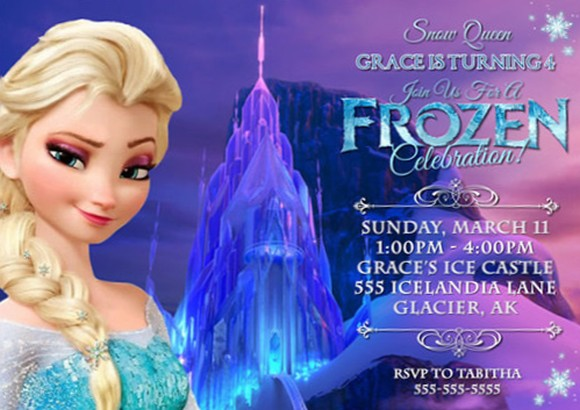 frozen birthday invitations printable