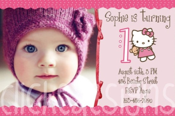 personalized hello kitty birthday invitations - Selol-ink