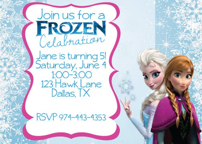 Frozen Birthday Invitation Sample Invitations Online - birthday invitations sample