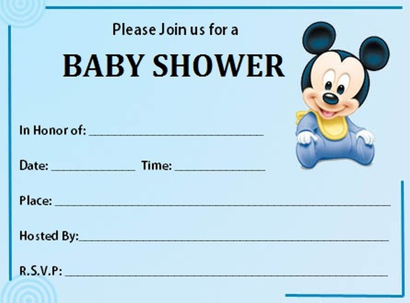 free mickey mouse baby shower invitation templates - Trisamoorddiner