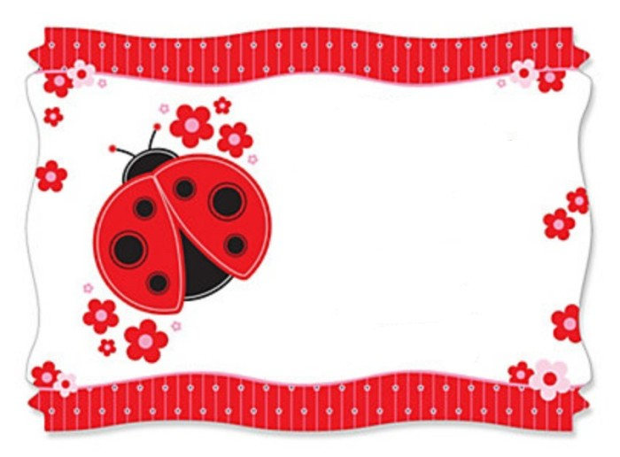 Ladybug Baby Shower Invitations - baby shower invitations free templates online