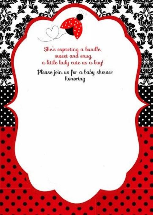 ladybug baby shower invitation template 2 Invitations Online
