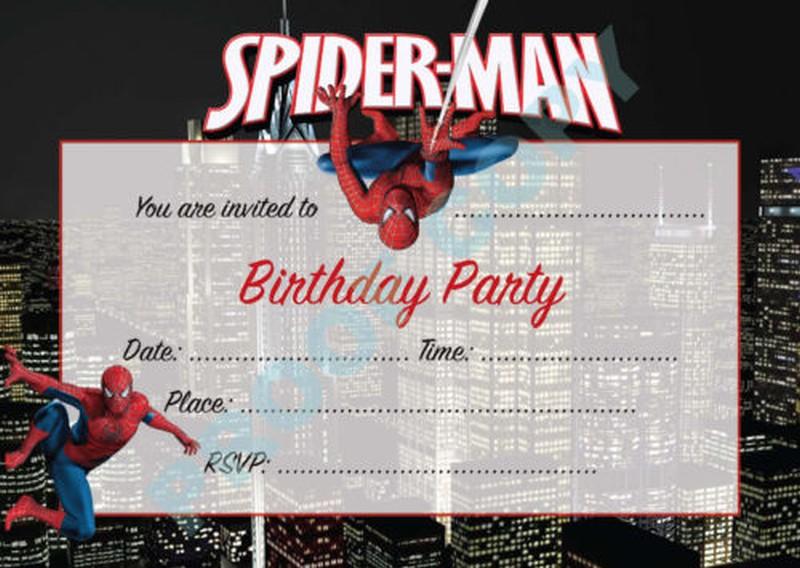 Spiderman Birthday Invitations free template Invitations Online