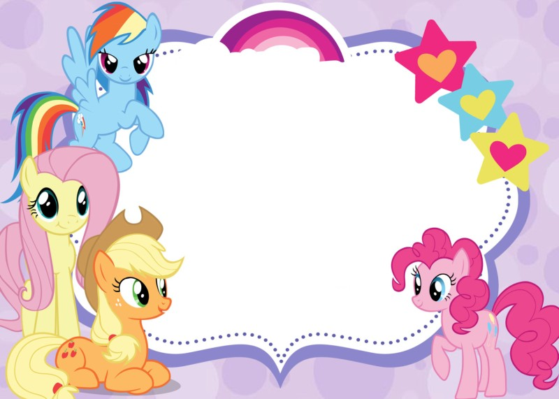 Free Printable Invitations - My Little Pony Invitations Online - pages invitation templates free