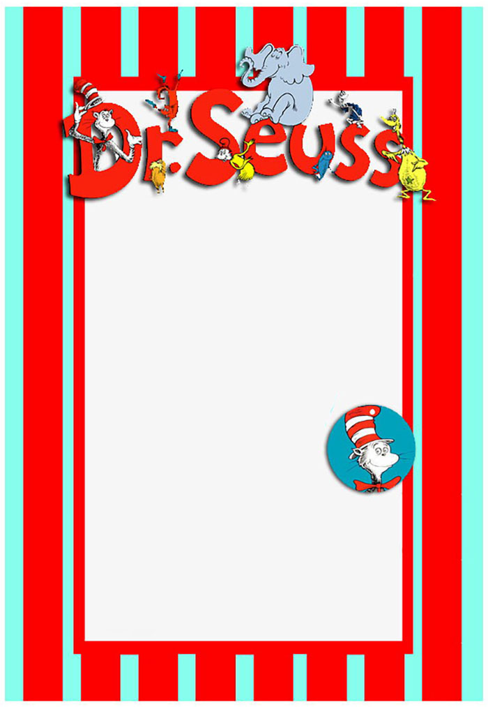 Dr Seuss Free Printable Invitation Templates Invitations Online