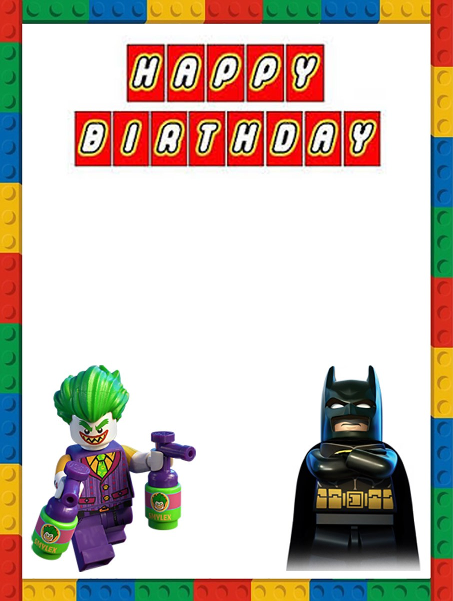 Lego Batman Birthday Invitation Template