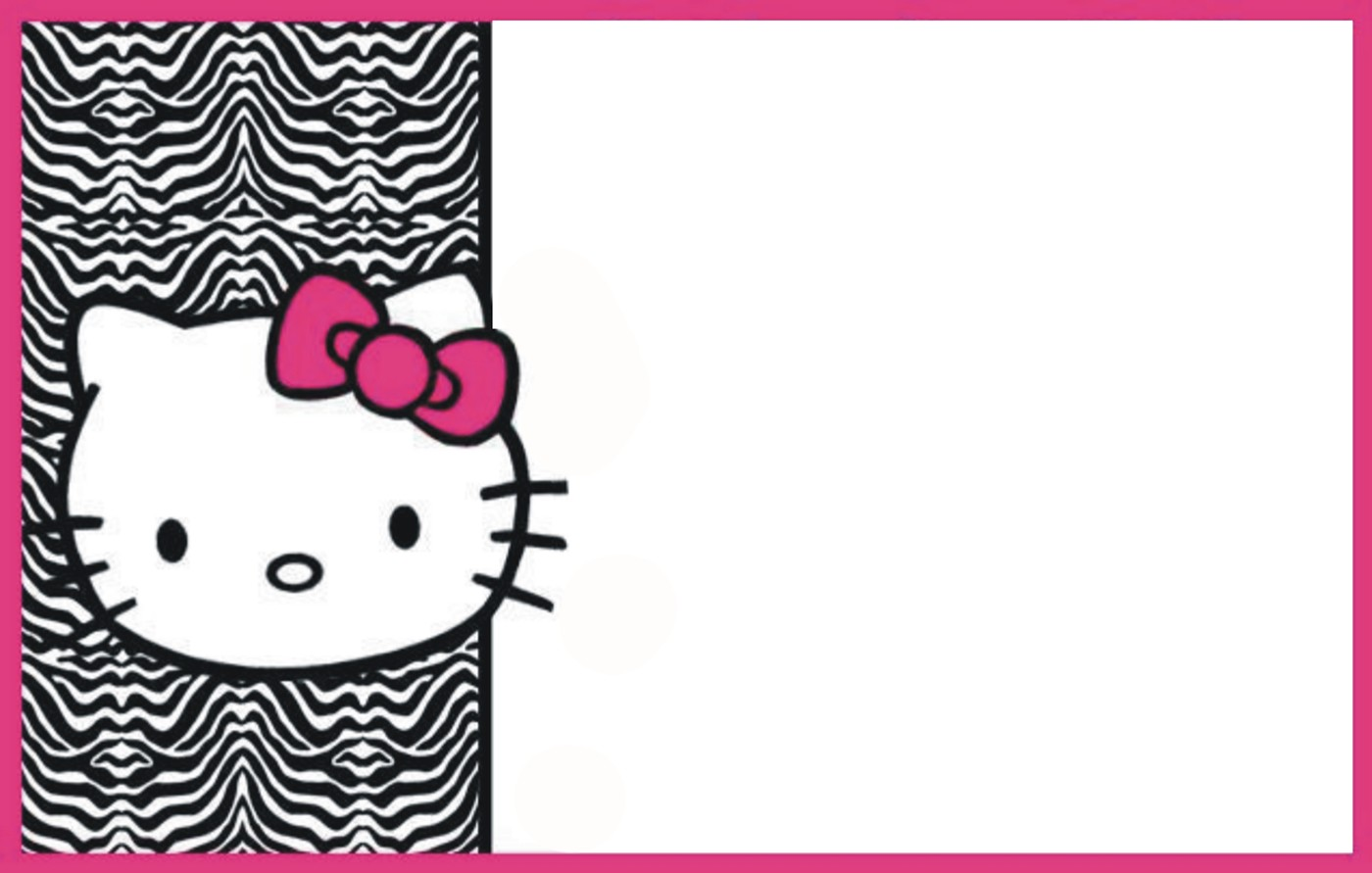 hello kitty birthday invitations free download