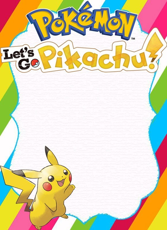 pokemon card invitations