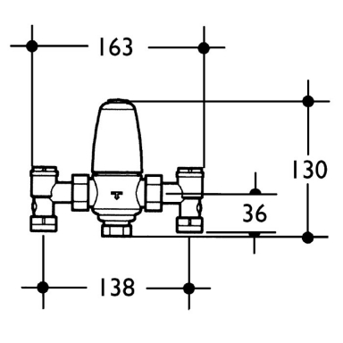 piping diagram for mixing valves