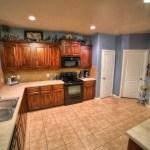 huge blue kitchen