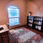 Study with hardwood floors