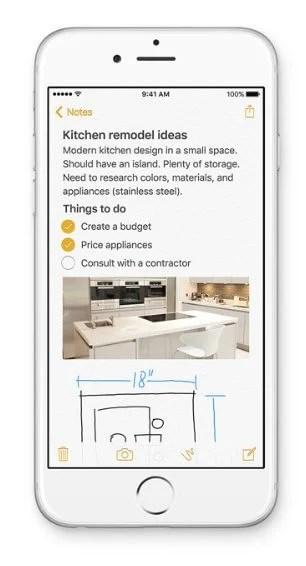 Aplicativo Notas é redesenhado no iOS 9