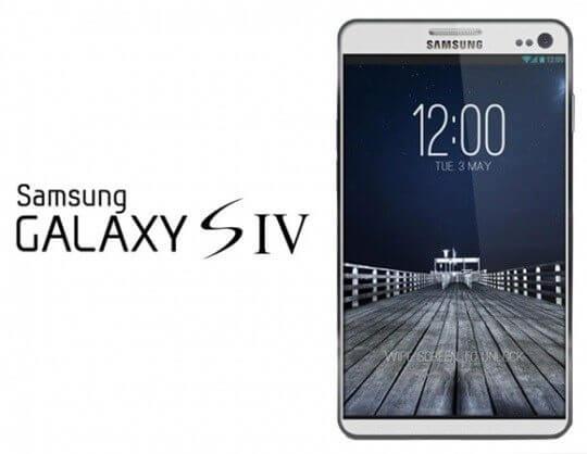 Mockup do Galaxy SIV S4
