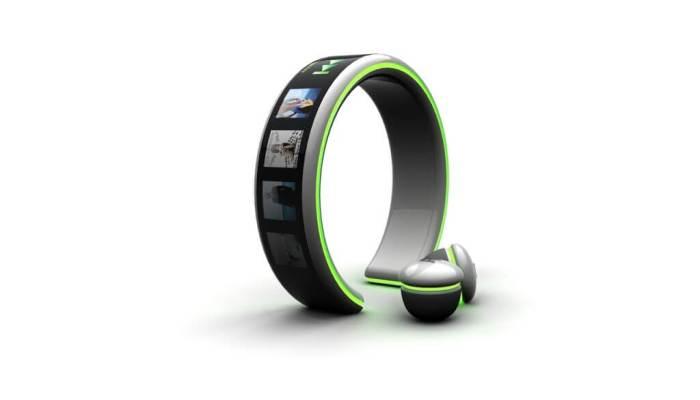 MP3 Player com tela OLED Flexível carregado pelo batimento cardíaco