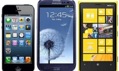 Galaxy S4 iPhone 5 Lumia 920