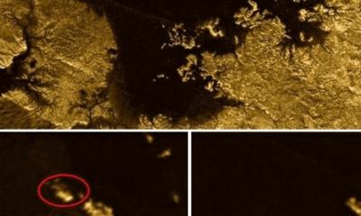 Imagem mostrou borrão branco em um lago da lua, que poderia ser iceberg / PL-Caltech/ASI/Cornell/NASA/PA
