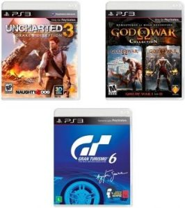 uncharted 3 god of war e gran turismo 6