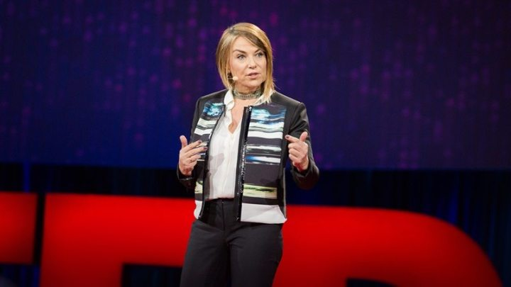 Esther Perel speaks at TED2015 - Truth and Dare, Session 11, March 16-20, 2015, Vancouver Convention Center, Vancouver, Canada. Photo: Bret Hartman/TED