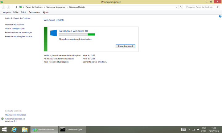 Baixando Windows 10