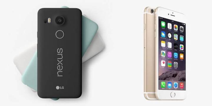 Nexus 5X vs iPhone 6S
