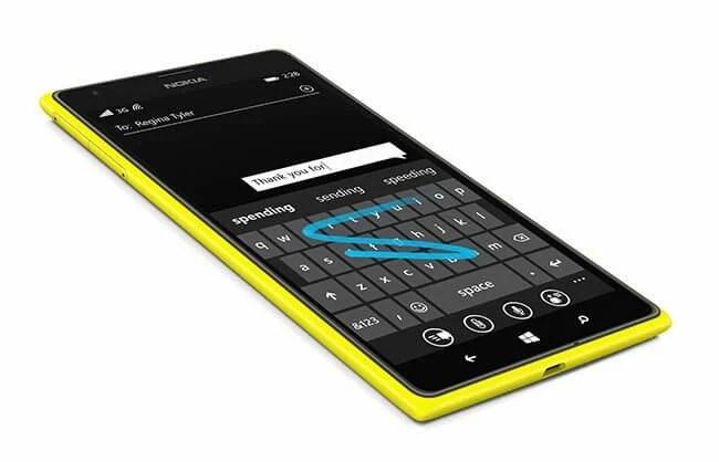 lumia word flow keyboard