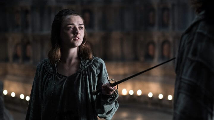 Sim, ela é Arya Stark