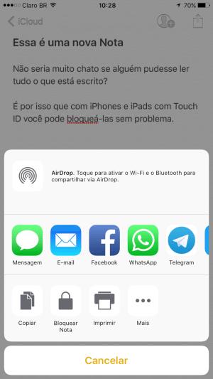 Tutorial: Como bloquear uma nota no iPhone ou iPad