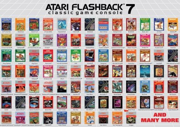 Console atari flashback 7 novo video game 101 jogos - Atari flashback classic game console game list ...