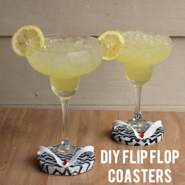 DIY Flip Flop Coasters  - How To-sday