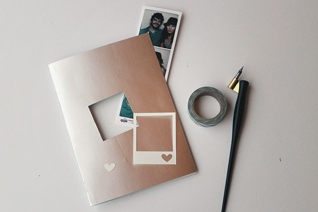 Peek-a-Boo Polaroid Card . How To-sday
