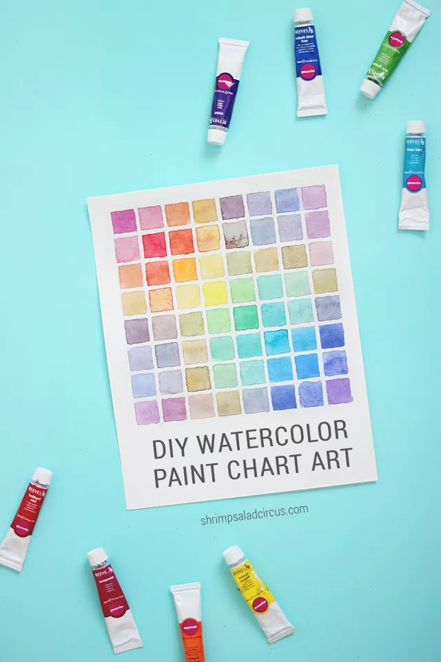 DIY Watercolor Paint Chart Tutorial - Shrimp Salad Circus