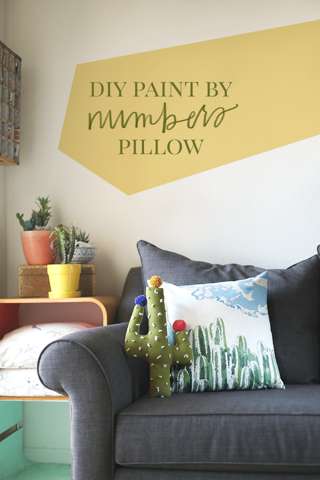 Inspirational DIY Paint by Numbers Pillow