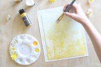 Ombr DIY Floral Wall Art - How To-sday - Shrimp Salad Circus