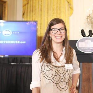 Lindsay Ponta at the Let's Move! Initative at the White House