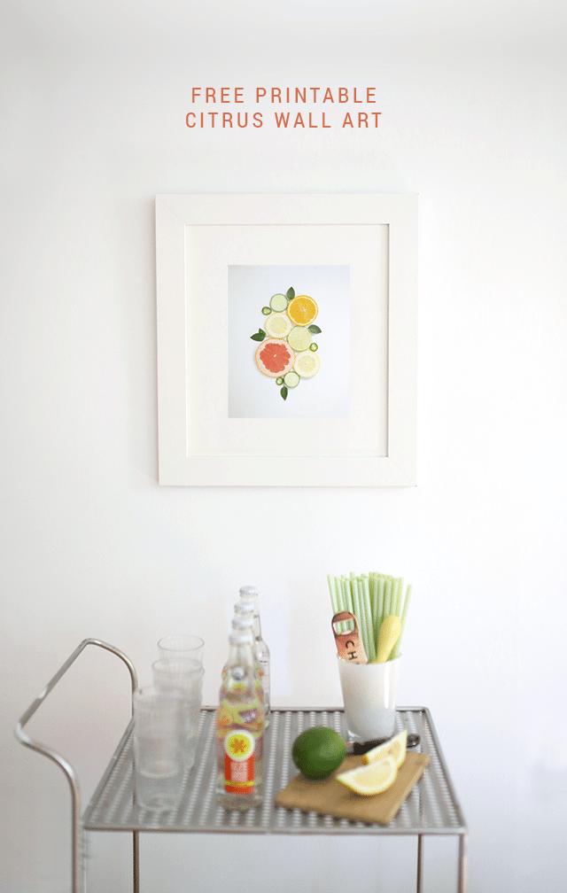 Free Printable Citrus Wall Art by Shrimp Salad Circus