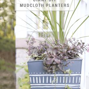 Giant DIY Mudcloth Planter Tutorial