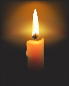 candle for Christopher Mackney