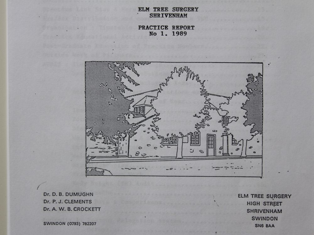 Elm Tree Surgery Practice report 1989