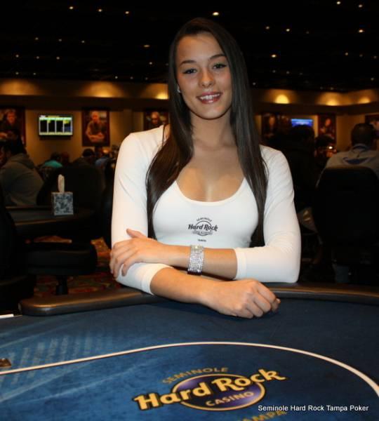 Wallpaper Poker Girl Hard Rock Calendar Girl Aimee Seminole Hard Rock Tampa