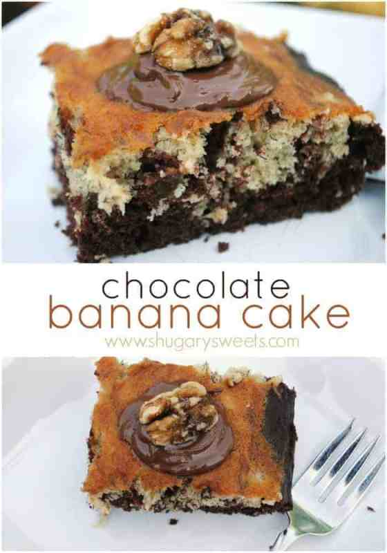 Chocolate banana snack cake recipe