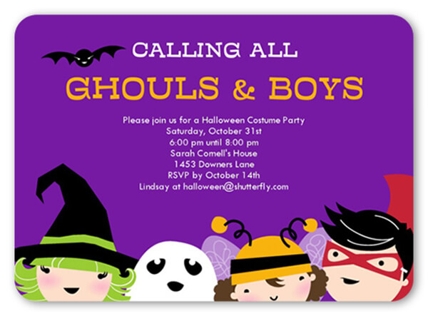 18 Halloween Invitation Wording Ideas Shutterfly - invitation for halloween party